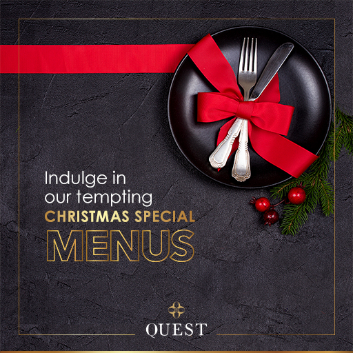 'Tis the season to celebrate with special Christmas and New Year menus at Quest
