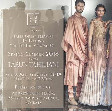Tarun Tahiliani Spring Summer 2018
